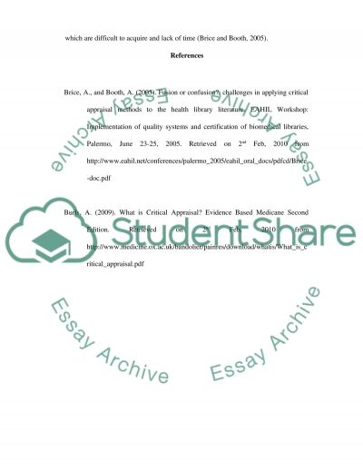 Evidence Based essay example