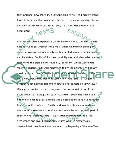 nowruz and my husbands mother essay example topics and well  nowruz and my husbands mother essay example text preview