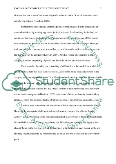 Photography Essay Topics Check These Samples  They Also Fit Your Topic Corporate Governance Essay Our Town Essay also Jane Eyre Essays Enron  Sox Corporate Governance Essay Example  Topics And Well  Essay On Truth