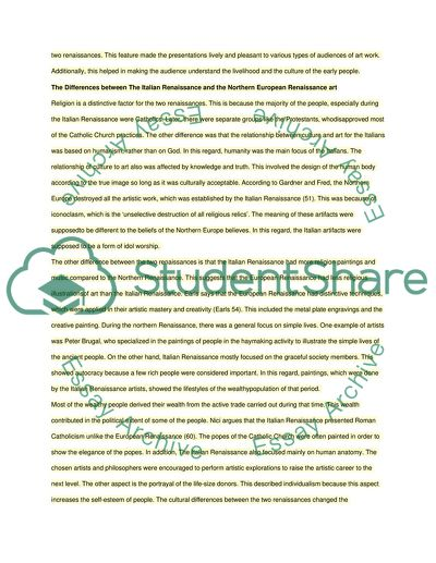 Cover Letter For Essays The Italian Renaissance And The Northern European Renaissance Shooting An Elephant Essay Analysis also A Descriptive Essay The Italian Renaissance And The Northern European Renaissance Essay Through The Tunnel Essay