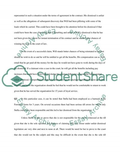 Seminar Question essay example