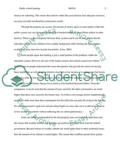 school funding essay