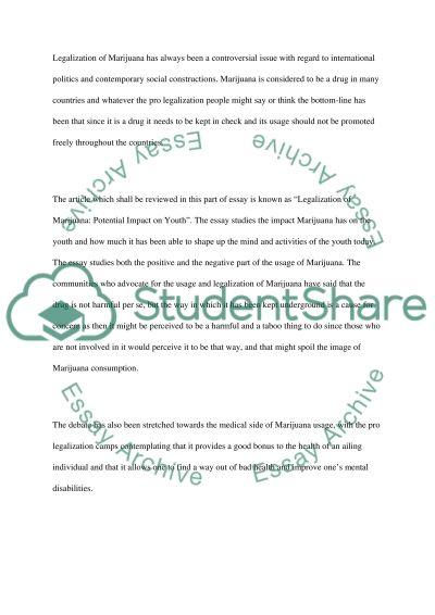 legalization of marijuana term paper example topics and well legalization of marijuana essay example