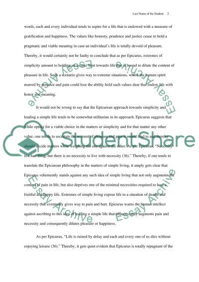 Topic essay example