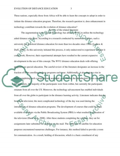 Evolution of Distance Education essay example