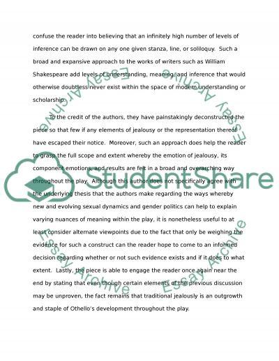 Essays conflict in othello