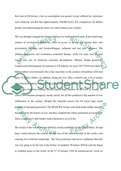 World War One And Us Essay Example  Topics And Well Written Essays  World War One And Us Professional Writing also Science In Daily Life Essay  Model English Essays