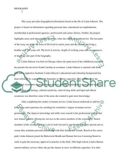 Biography: A Complete Life of Linda Johnson essay example