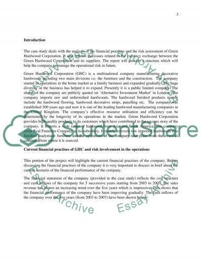 Finance and accounting essay: case study analysis report essay example