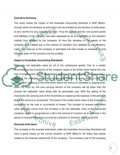 Finance accounting essay example