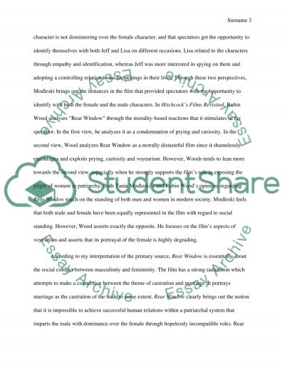 synthesis essay on rear window example topics and well written  synthesis essay on rear window essay example text preview