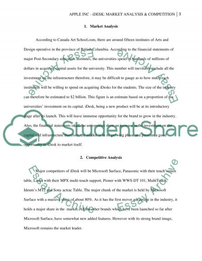 Apple Inc.: Market Analysis & Competition essay example
