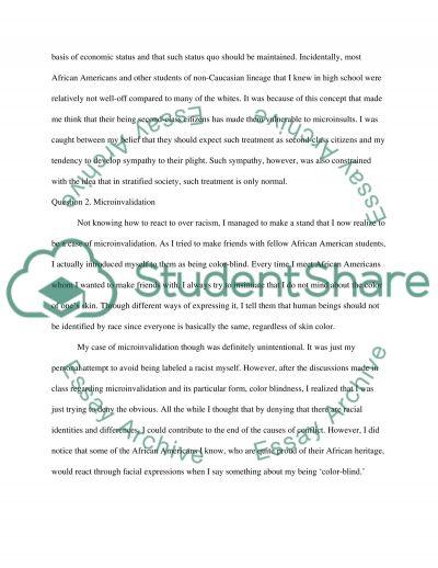 Microaggressions essay example