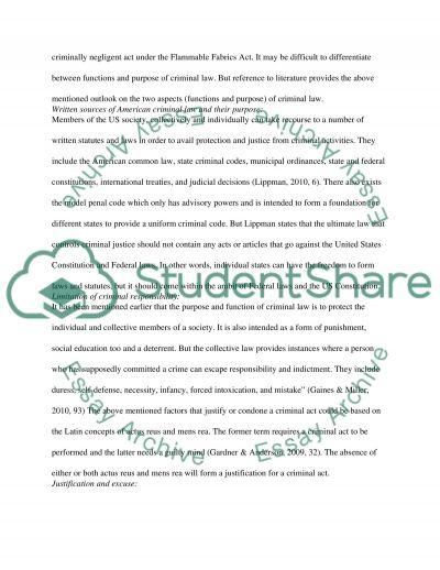 Inside Criminal Law essay example