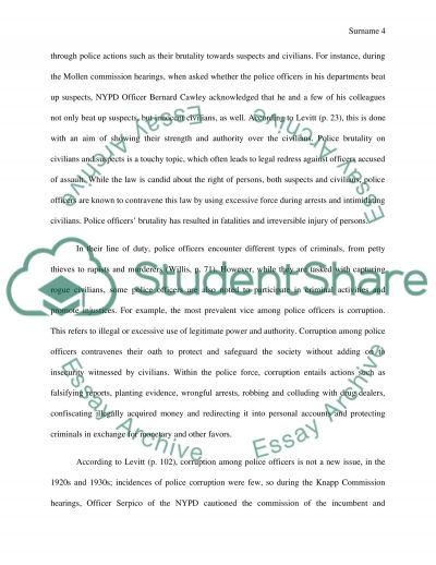 police and corruption research papers Essay on police brutality and corruption essay on police brutality and corruption 681 words 3 pages police brutality research paper 1367 words   6 pages.