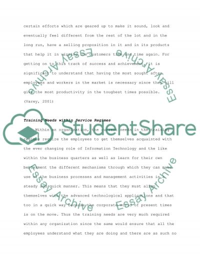 Service marketing essay example