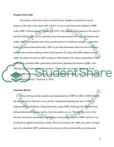 Critical review; Quantitative studies