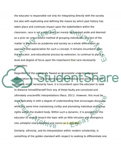 Race, Multiculturalism, Inclusion and Education essay example