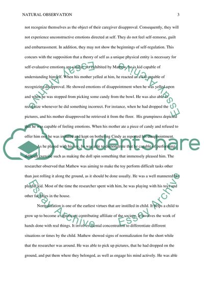 Natural Observation Research Paper Example | Topics and Well Written