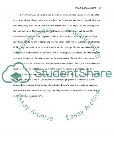 Intro to Astronmy essay example