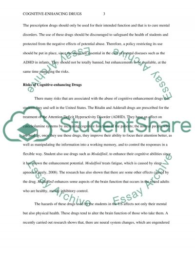 Cognitive-Enhancing Drugs essay example