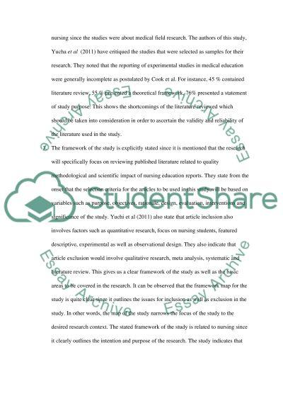 Quantitative research critique paper
