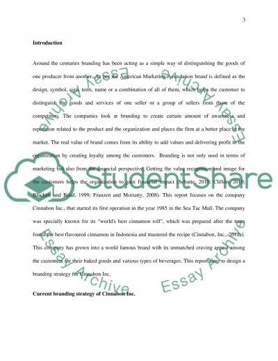 Branding essay example