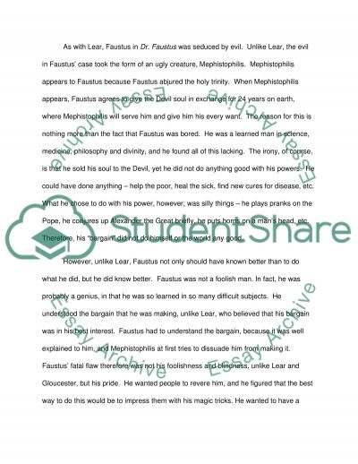 king lear and doctor faustus similarities and differences essay  doctor faustus similarities and differences essay example text preview