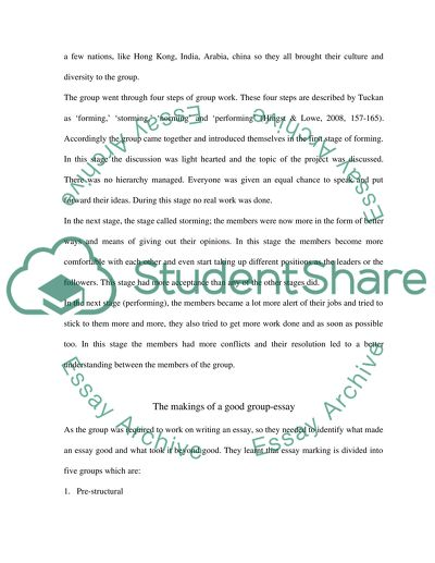 Reflective Essay On The Importance Of Group Work In Educational Process