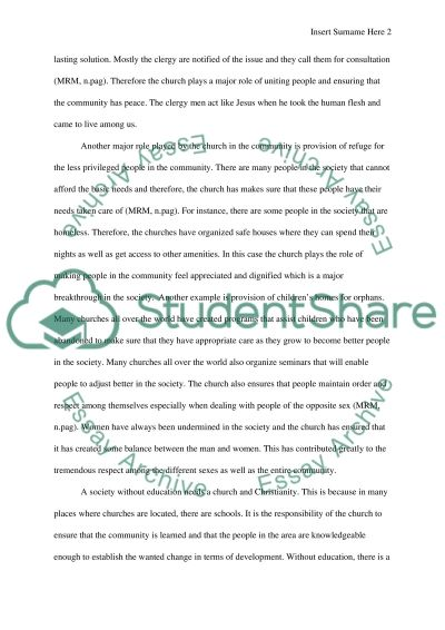 Paper Two essay example