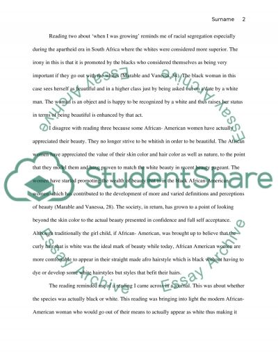 Reading Response Paper essay example