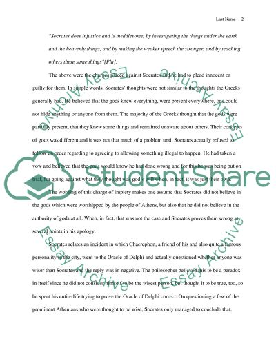 Apology Essay Example | Topics and Well Written Essays - 1250 words