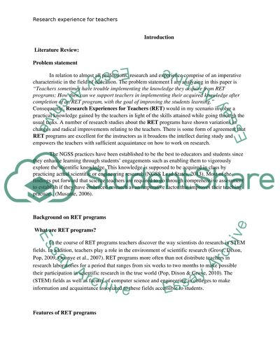 statement of the problem dissertation