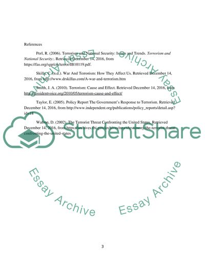 terrorism and national security essay example topics and well  terrorism and national security essay example text preview
