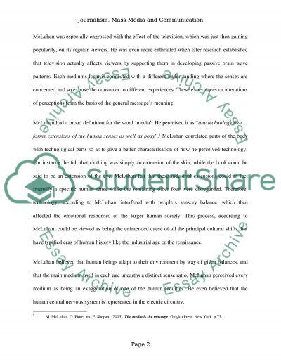 Media essay example