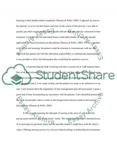 Self reflection essay example
