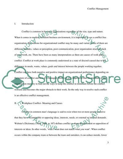 conflict management pdf