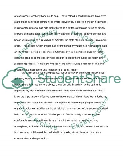 Narrative Statement for UTSA MSW Program