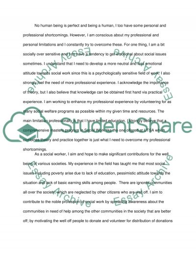 an application essay social work studies Graduate social work admissions rigorous studies and leading research  mail the completed application form, personal essay, professional samples, and application .