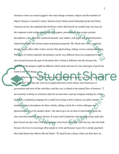 Profile Interview English Essay [see instructions and attached topis/detail documents]