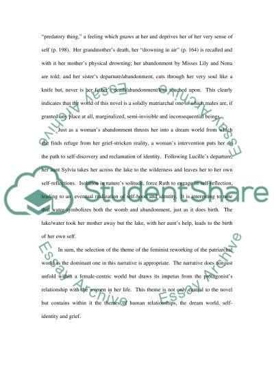 Marilyn Robinsons Housekeeping essay example