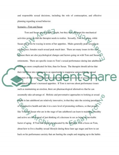 Therapy essay example