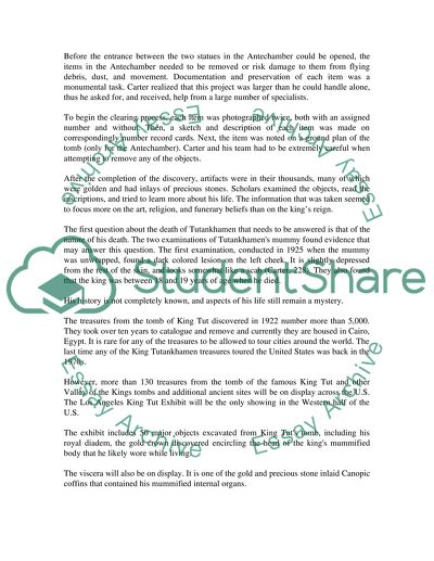 Essay Paper Checker The King Tut Exhibit Causes Of The English Civil War Essay also My First Day Of High School Essay The King Tut Exhibit Essay Example  Topics And Well Written Essays  Sample Essay Proposal