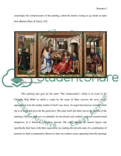 Visual analysis of The Merode Altarpiece