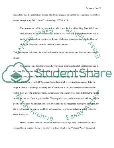 English 1B Short Story Comparison essay