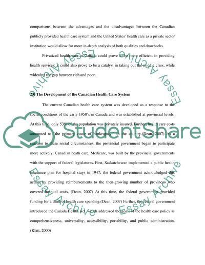 health care essay  free essays and papers on studybay privatization in canadian health care essay example topics and  privatization in canadian health care