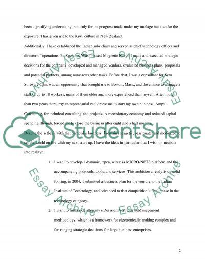 Seeking Acceptance to MBA Program essay example