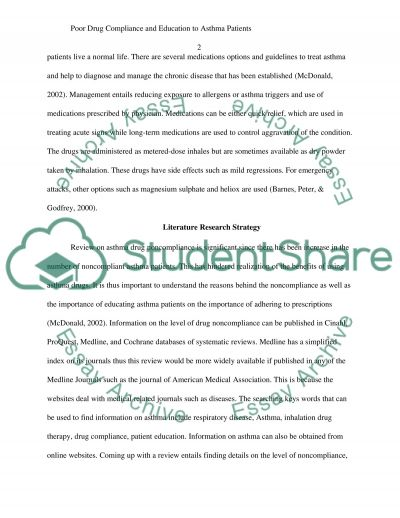 Poor Drug Compliance and Education to Asthma Patients essay example