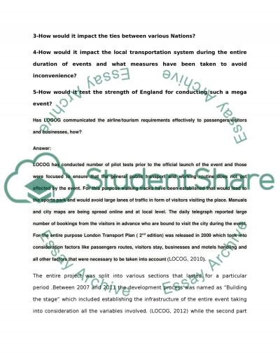 An essay on London Olympics 2012 Essay example