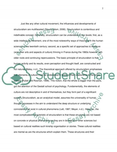 Structuralism perspective in science and technology essay example